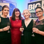 The girls enjoying a glass of fizz at the Western Morning News Awards!